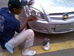 Lavagem a seco de veículos