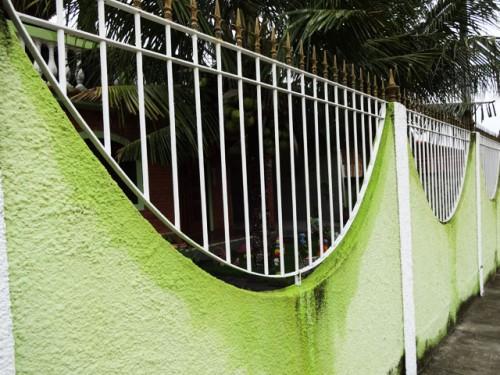 Muro com grade