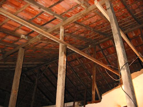 Escoramento do telhado